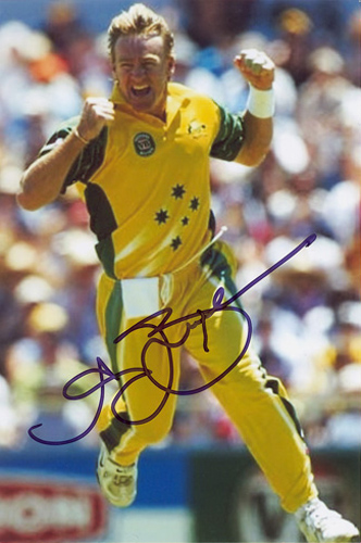 Andy Bichel, Australia, signed 6x4 inch photo.