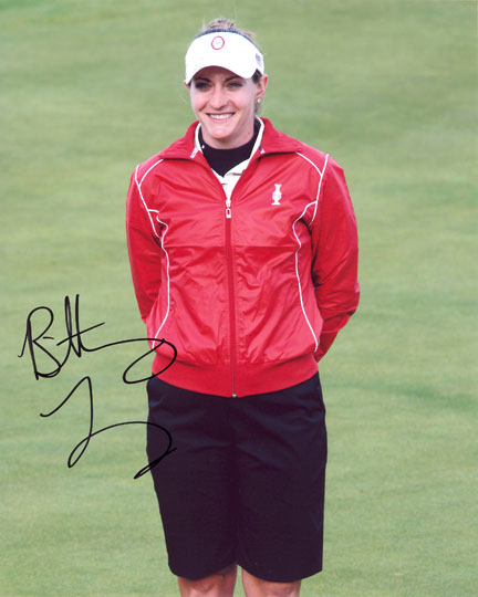 Brittany Lang, signed 10x8 inch photo.