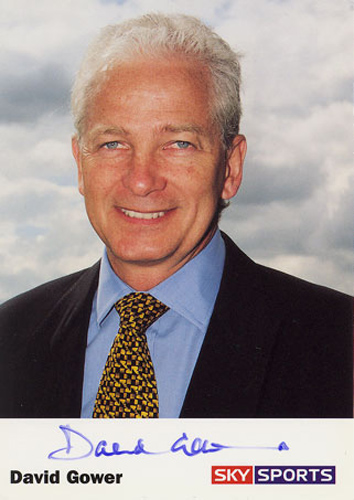 David Gower, England, signed 6x4 inch promo card.