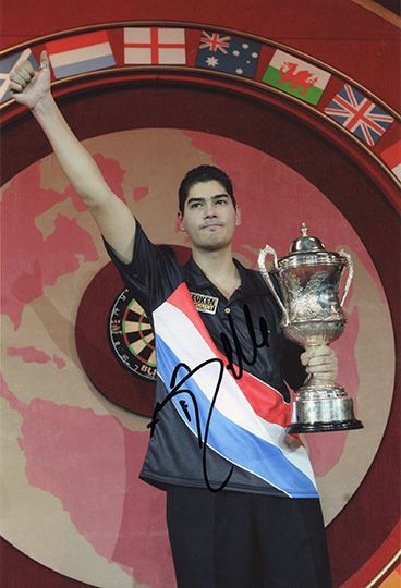 Jelle Klaasen, signed 12x8 inch photo.