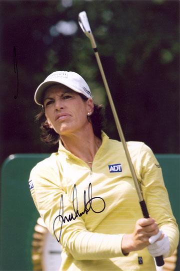 Juli Inkster, signed 12x8 inch photo.