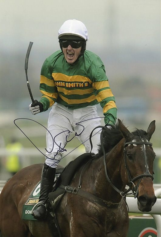 A.P. McCoy, Grand National 2010, signed 12x8 inch photo.