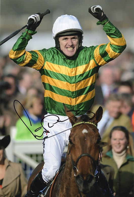 A.P. McCoy, signed 12x8 inch photo.