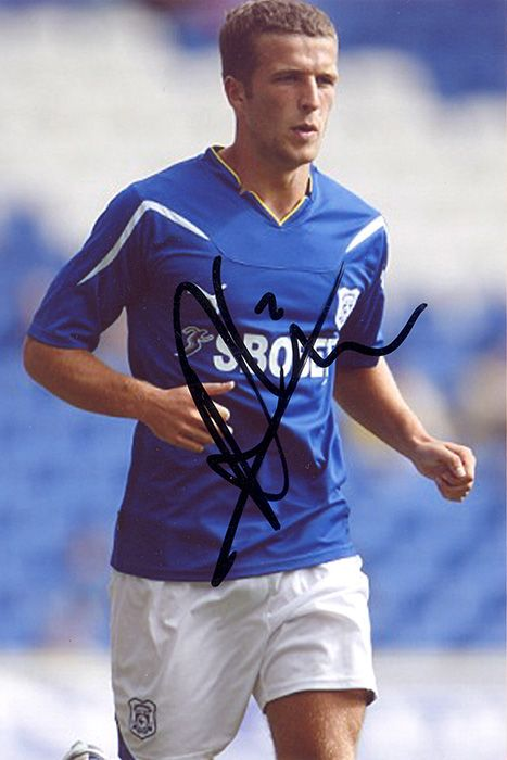 Adam Matthews, Cardiff City & Wales, signed 6x4 inch photo.