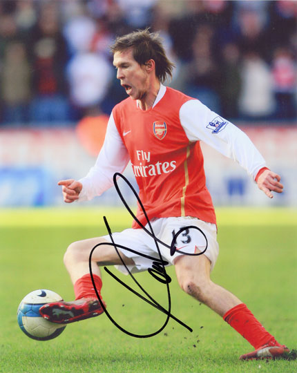 Alexander Hleb, Arsenal & Belarus, signed 10x8 inch photo.