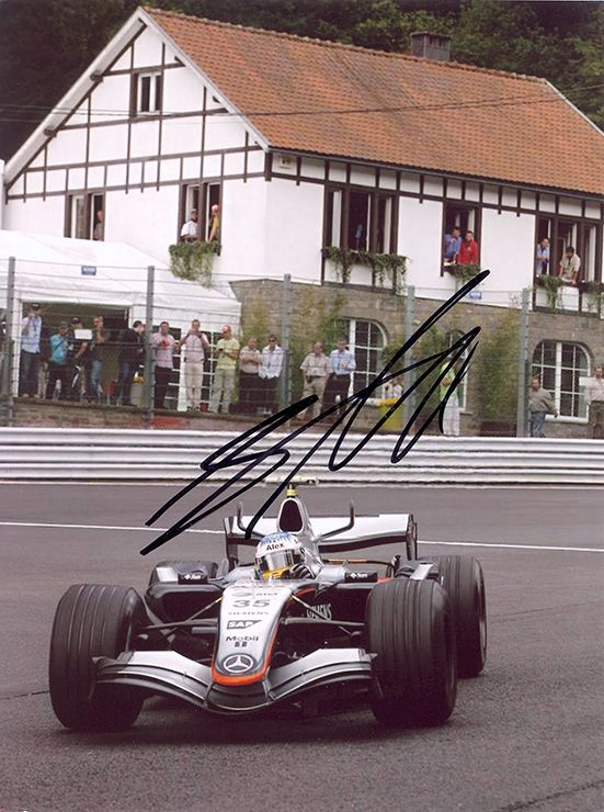 Alexander Wurz, F1, Formula One driver, signed 8x6 inch photo.
