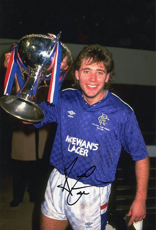 Ally McCoist, Rangers, signed 12x8 inch photo.