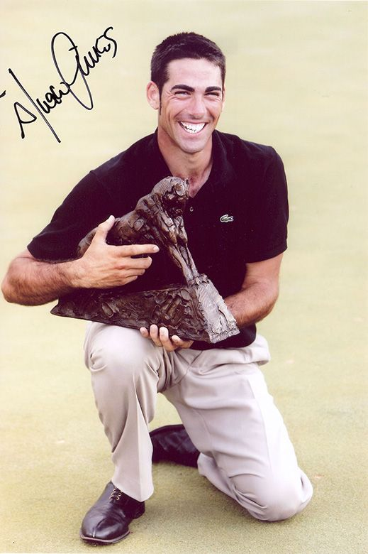 Alvaro Quiros, Spanish golfer, signed 12x8 inch photo.
