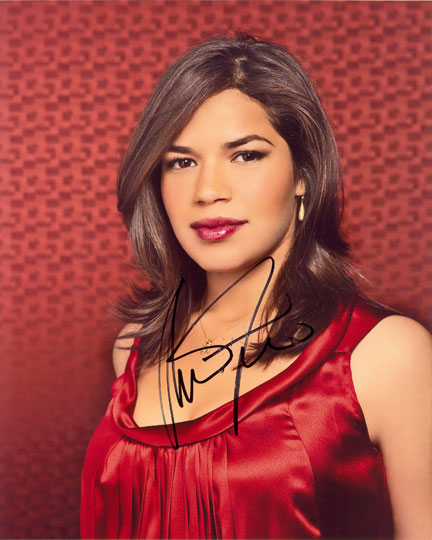 America Ferrera, Ugly Betty, signed 10x8 inch photo.