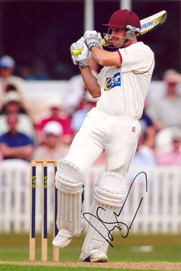Andrew Strauss, Middlesex & England, signed 12x8 inch photo.(3)