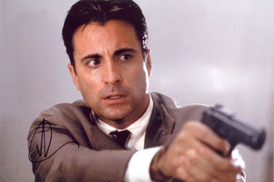 Andy Garcia, signed 12x8 inch photo.(2)