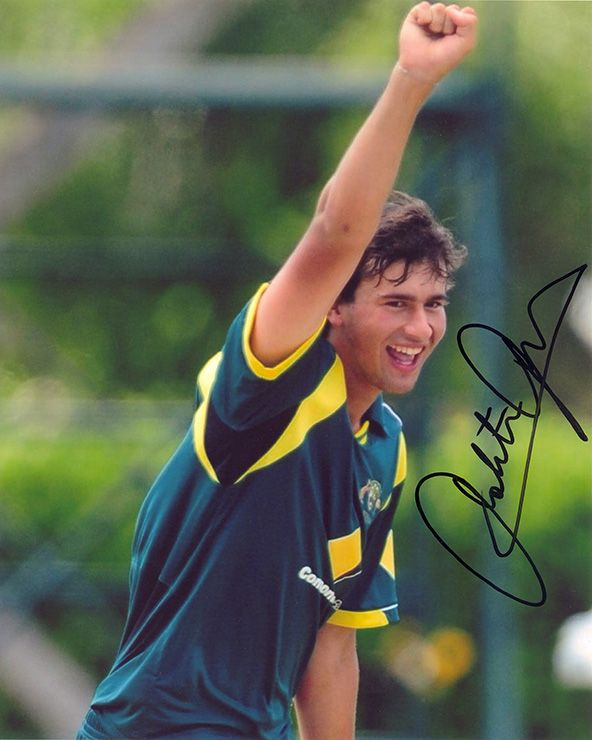 Ashton Agar, Australia, signed 10x8 inch photo.