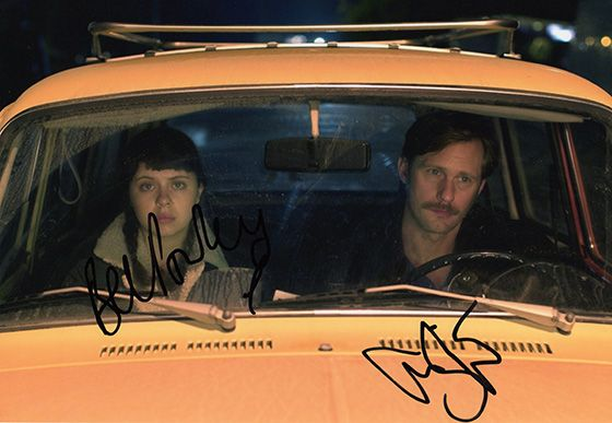 Bel Powley & Alexander Skarsgard, signed 12x8 inch photo.