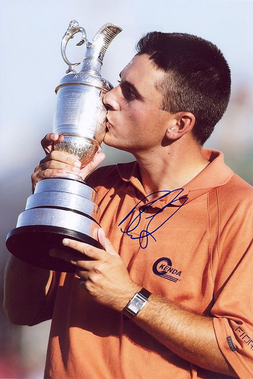 Ben Curtis, Open Champion 2003, signed 12x8 inch photo.