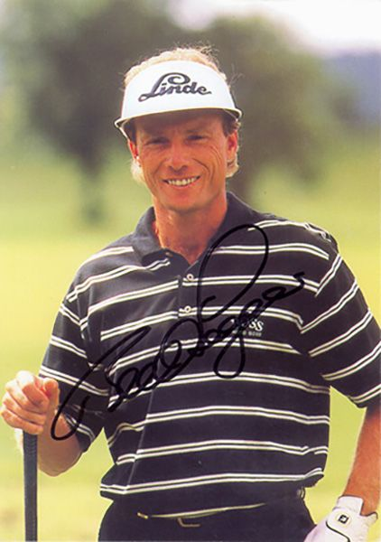 Bernhard Langer, signed 6x4 inch photo.