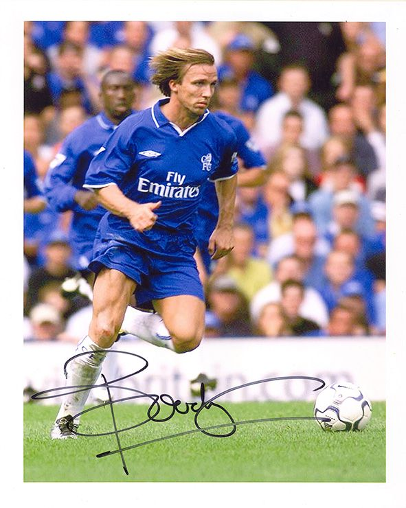 Bolo Zenden, Chelsea & Holland, signed 10x8 inch photo.