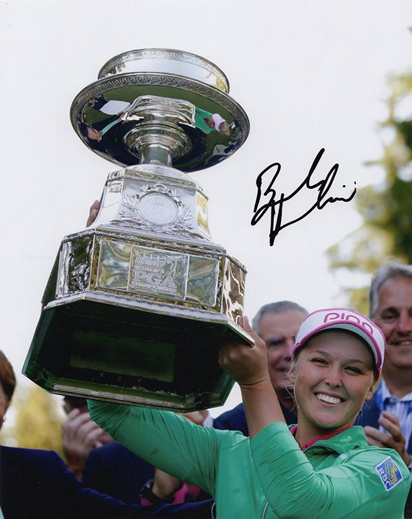 Brooke Henderson, LPGA Tour, signed 10x8 inch photo.