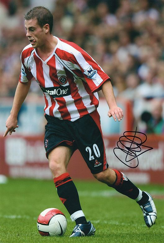 Chris Armstrong, Sheffield Utd, signed 12x8 inch photo.(2)