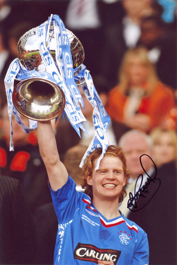 Chris Burke, Rangers, signed 12x8 inch photo.