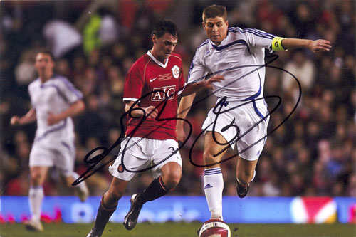 Chris Eagles, Manchester Utd, signed 6x4 inch photo.