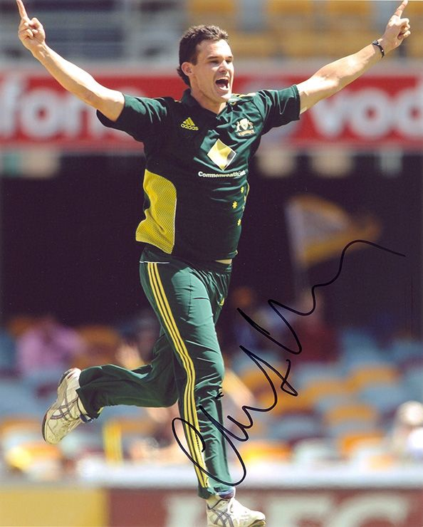 Clint McKay, Australia, signed 10x8 inch photo.