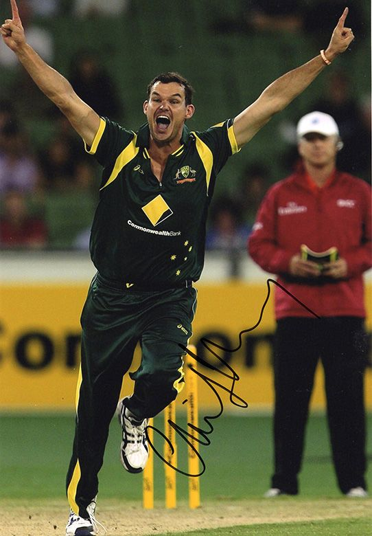Clint McKay, Australia, signed 12x8 inch photo.