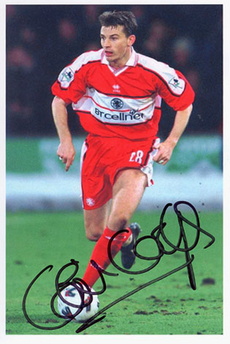 Colin Cooper, Middlesbrough, signed 6x4 inch photo.