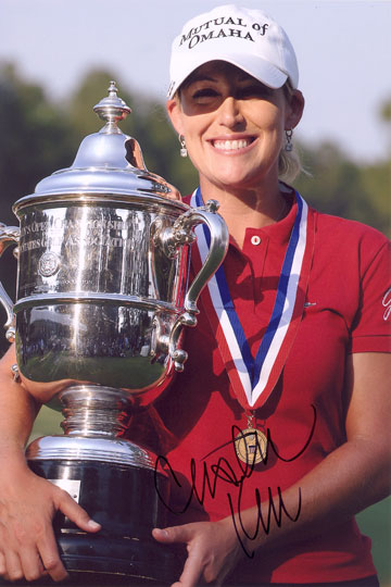 Cristie Kerr, signed 12x8 inch photo.