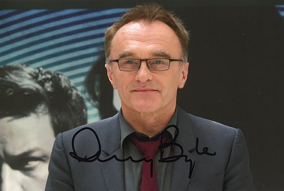 Danny Boyle, film director, signed 12x8 inch photo.(2)
