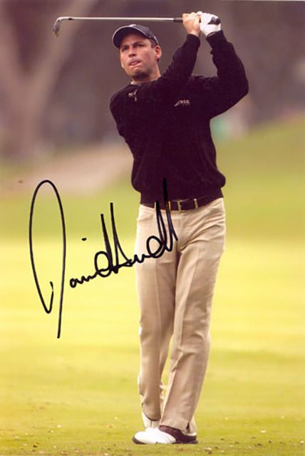 David Howell, English golfer, signed 9x6 inch photo.