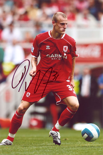 David Wheater, Middlesbrough, signed 12x8 inch photo.