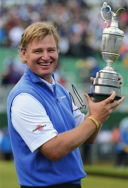 Ernie Els, Open Champion 2012 Royal Lytham, signed 12x8 inch photo.