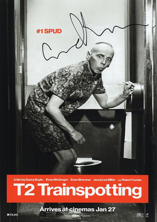Ewen Bremner, Trainspotting, signed 11.5x8.0 inch photo.