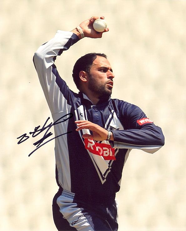 Fawad Ahmed, Australia, signed 10x8 inch photo. (2)