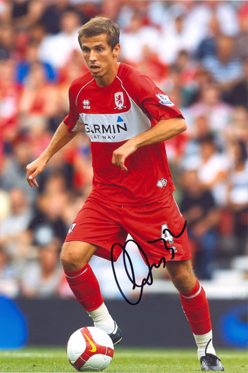 Gary O'Neil, Middlesbrough, signed 12x8 inch photo.
