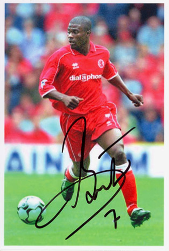 George Boateng, Middlesbrough, Holland, signed 6x4 inch photo.