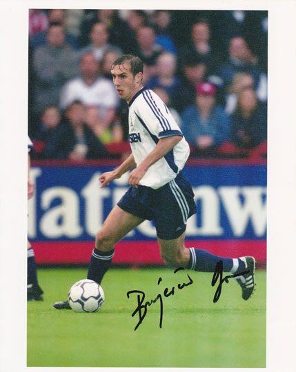 Goran Bunjevcevic, Tottenham Hotspur, signed 10x8 inch photo.