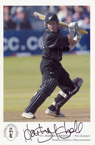 Hamish Marshall, Gloucestershire & New Zealand, signed 6x4 inch promo card.