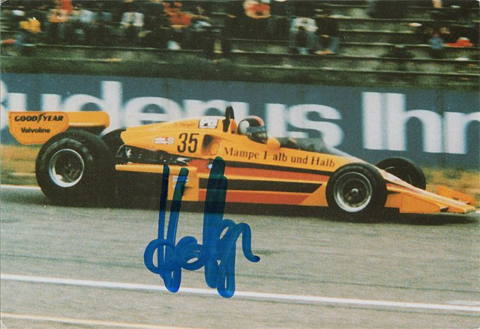 Hans Heyer, F1 driver, ATS, signed 6x4 inch photo.