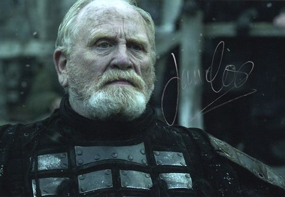 James Cosmo, Game of Thrones, signed 12x8 inch photo.