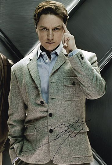 James McAvoy, X-Men, signed 12x8 inch photo.(2)