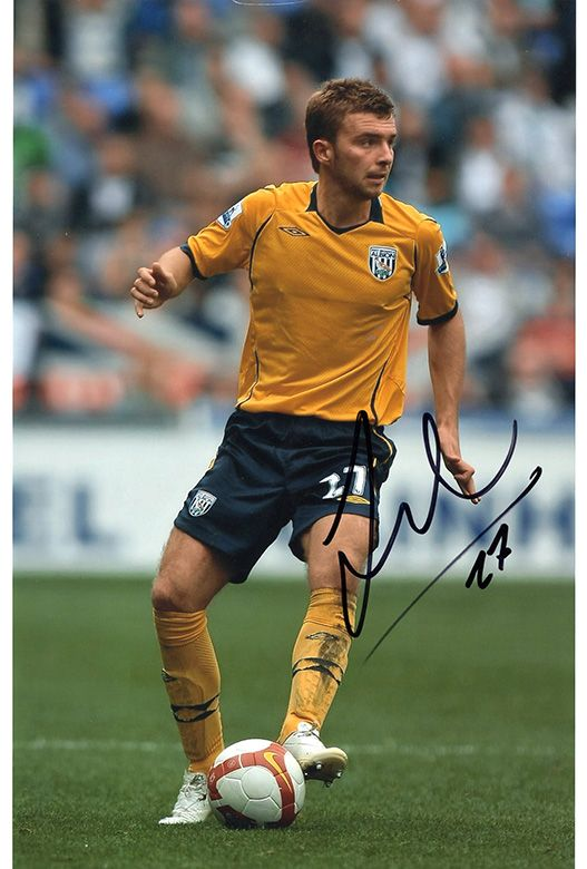 James Morrison, West Brom & Scotland, signed 12x8 inch photo.