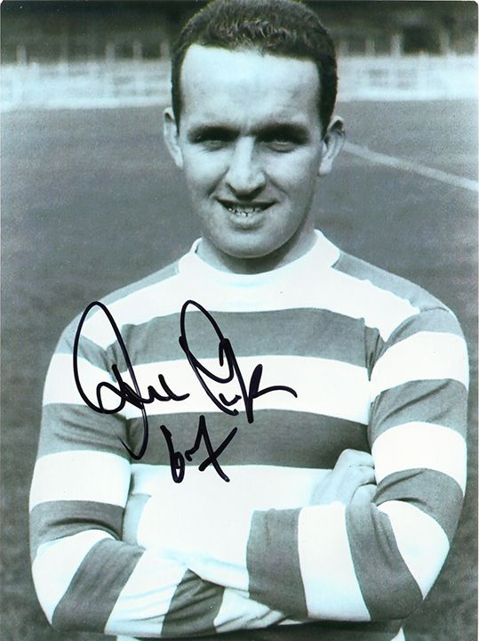 John Clark, Glasgow Celtic Lisbon Lions, signed 8x6 inch photo.