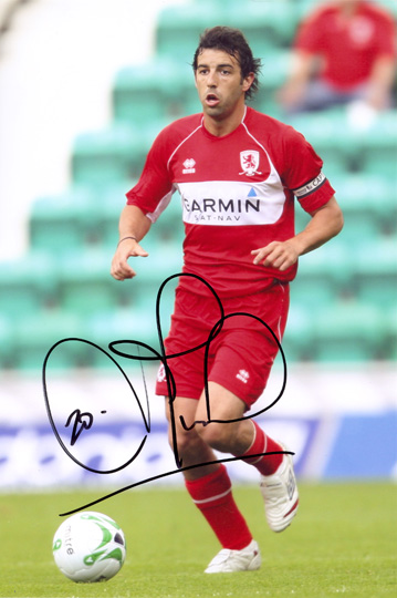 Julio Arca, Middlesbrough, signed 12x8 inch photo.