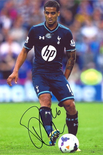 Kyle Naughton, Tottenham Hotspur, signed 12x8 inch photo.(2)