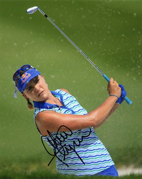 Lexi Thompson, signed 10x8 inch photo.