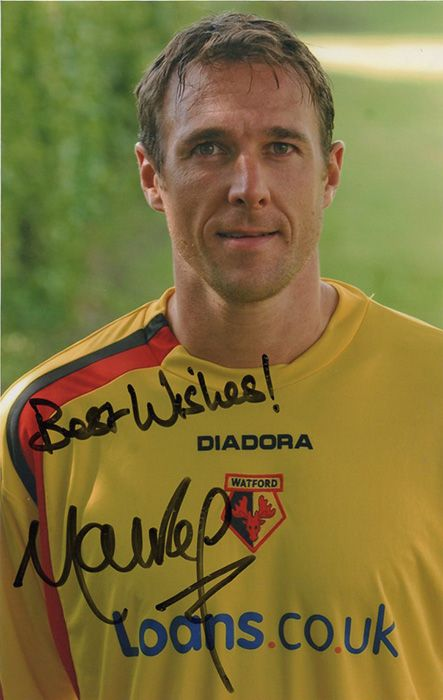 Malky Mackay, Watford, signed 5.75x3.75 inch photo.