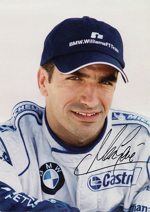 Marc Gene, BMW Williams F1 Team, signed 6x4 inch promo card.