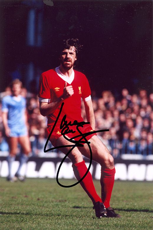 Mark Lawrenson, Liverpool & Republic of Ireland, signed 12x8 inch photo.