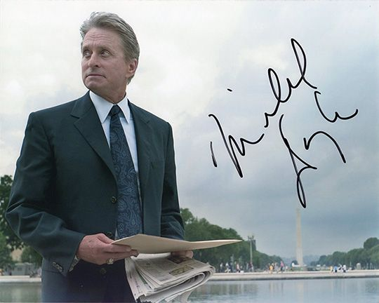 Michael Douglas, signed 10x8 inch photo.
